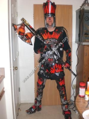Homemade Beer Knight Halloween Costume with the Battle Axe