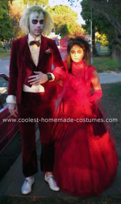 Homemade Beetlejuice and Lydia Couple Costume