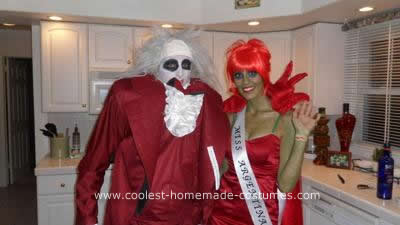 Homemade Beetlejuice and Miss Argentina DIY Halloween Costumes