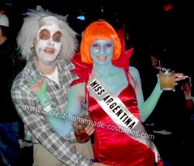 Homemade Beetlejuice and Miss Argentina Halloween Costumes