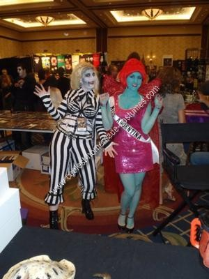 Homemade Beetlejuice Miss Argentina Costume