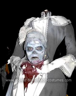 Homemade Beheaded Marie Antoinette Costume