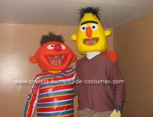 Homemade Bert and Ernie Halloween Costumes