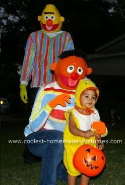 Homemade Bert, Ernie and Rubber Ducky Costume