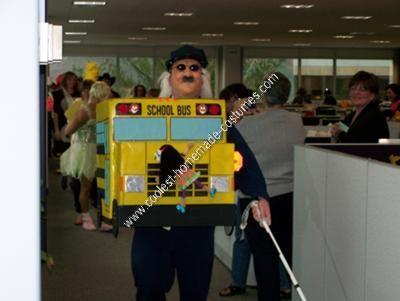 Homemade Blind School Bus Driver Halloween Costume