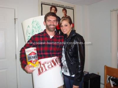 Homemade Brawny Paper Towel Costume
