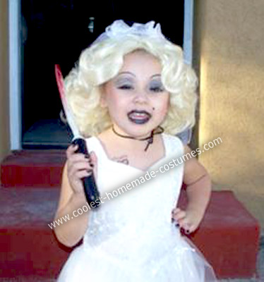 Tiffany Bride Of Chucky Costume http://www.coolest-homemade-costumes.com/coolest-homemade-bride-of-chucky-child-costume-4.html