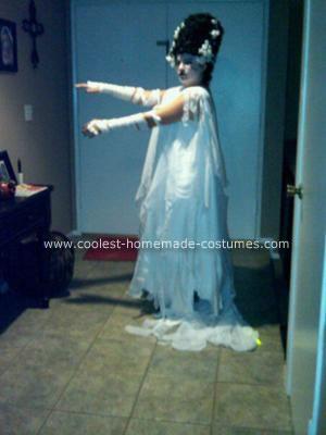 Homemade Bride of Frankenstein Halloween Costume