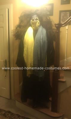 Homemade Bride of Voldemort Costume from Harry Potter