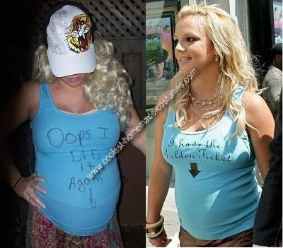 Homemade Britney Spears Costume