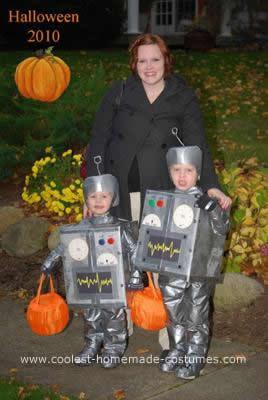 Homemade Bro-Bots Halloween Costumes