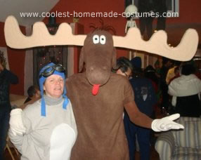 Homemade Bullwinkle Halloween Costume Idea