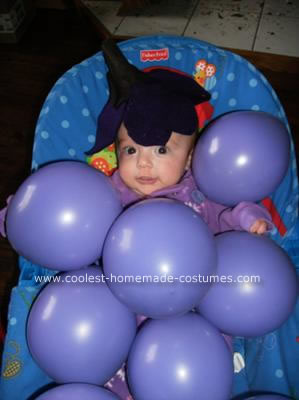 Homemade Bunch of Grapes Baby Costume