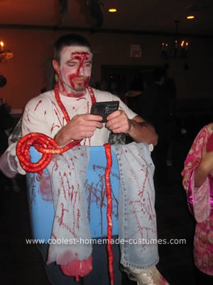 Homemade Butcher Optical Illusion Halloween Costume Idea