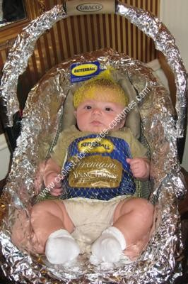Homemade Butterball Turkey Baby Costume