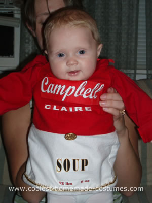 Homemade Campbell Soup Costume