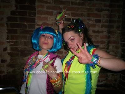 Homemade Candy Raver Costume
