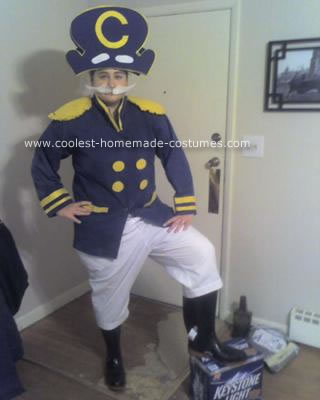 Homemade Cap'n Crunch Costume