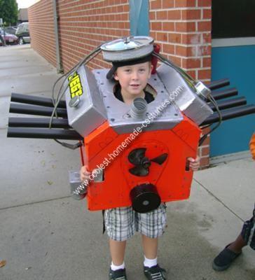 Homemade Car Engine Costume