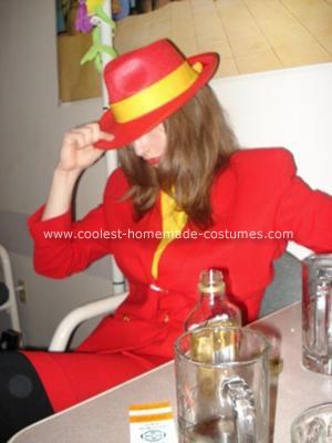 Homemade Carmen Sandiego Costume