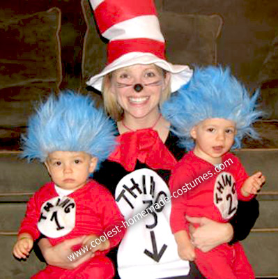 Homemade Cat in the Hat Costume