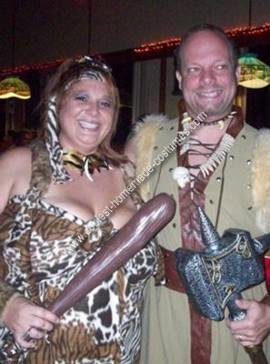 Homemade Cavewoman Costume