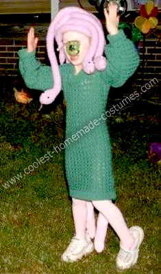 Celia From Monsters Inc http://www.coolest-homemade-costumes.com/coolest-homemade-celia-from-monsters-inc-costume-16.html