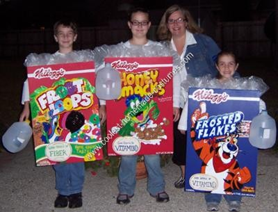 Homemade Cereal Box Halloween Costumes
