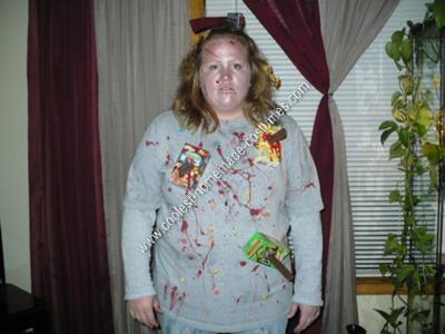 Homemade Cereal Killer Halloween Costume Idea