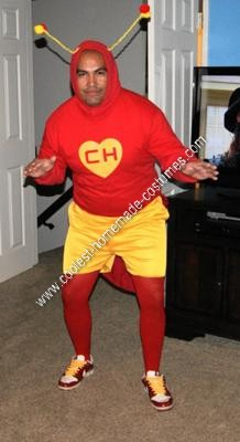 Homemade Chapulin Colorado Superhero Halloween Costume Idea