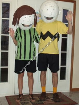 Homemade Charlie Brown and Peppermint Patty Couple Costumes