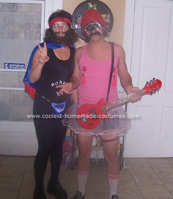 Homemade Cheech and Chong Couple Costume