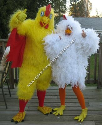 Homemade Chicken Couple Costume
