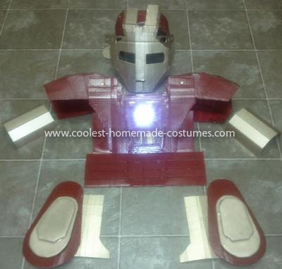 Coolest Homemade Child's Iron Man Costume - Progress