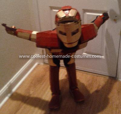 Coolest Homemade Child's Iron Man Costume - Jet's On