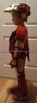 Coolest Homemade Child's Iron Man Costume - Side View