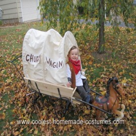 Homemade Chuck Wagon Cowboy Halloween Costume