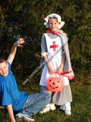 Homemade Clara Burton Nurse Costume