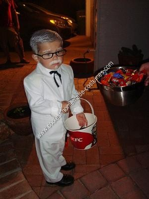 Homemade Colonel Sanders Child Halloween Costume Idea