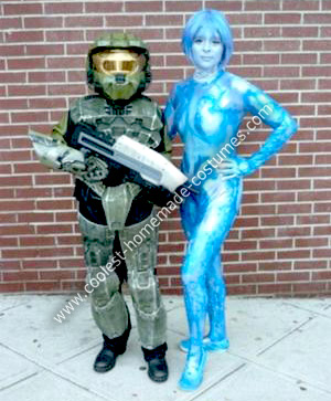 Homemade Cortana Costume