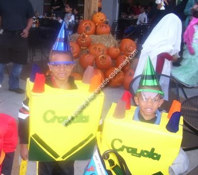 Homemade Crayola Box Halloween Costumes