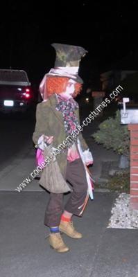 Homemade Crazy Eye Mad Hatter Halloween Costume