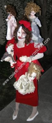 Homemade Creepy Porcelain Doll Collection Halloween Costume
