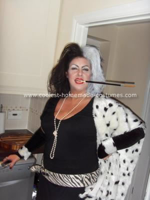 Homemade Cruella Costume Design