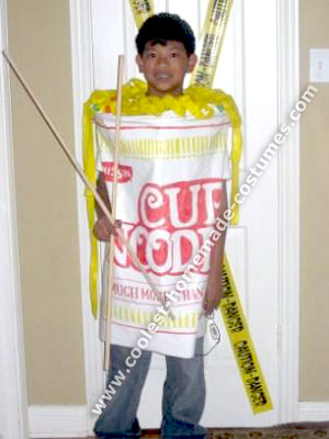 Homemade Cup Noodles Halloween Costume