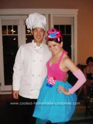 Homemade Cupcake and Baker Couple Costume