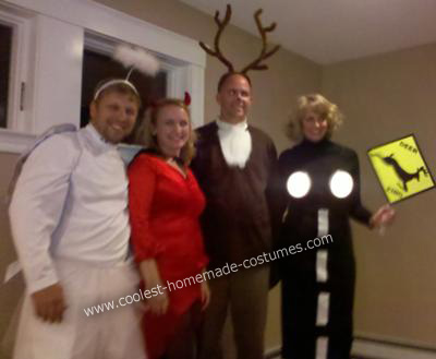 Homemade Deer Caught in Headlights Couple Costume