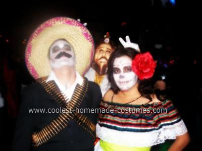 Homemade Dia De Los Muertos Couple Costume