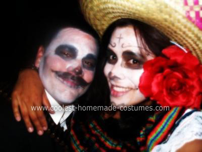 Homemade Dia De Los Muertos Couple Costume