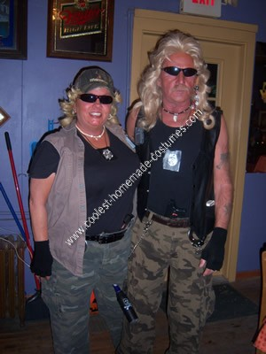 Homemade Dog the Bounty Hunter and Wife Halloween Costume